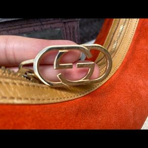 Authentic Gucci Vintage Suede Orange Bag Sale!